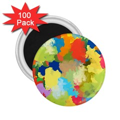 Summer Feeling Splash 2 25  Magnets (100 Pack)  by designworld65