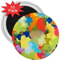 Summer Feeling Splash 3  Magnets (10 Pack)  by designworld65