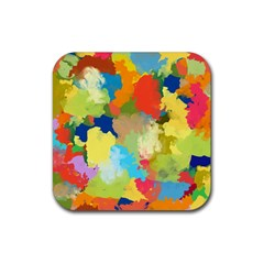 Summer Feeling Splash Rubber Square Coaster (4 Pack)  by designworld65
