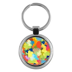 Summer Feeling Splash Key Chains (round)  by designworld65