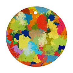 Summer Feeling Splash Round Ornament (two Sides) by designworld65