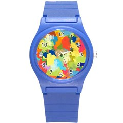 Summer Feeling Splash Round Plastic Sport Watch (s) by designworld65