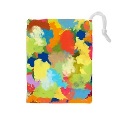 Summer Feeling Splash Drawstring Pouches (large)  by designworld65