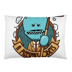Meeseeks Pillow Case (two Sides) by quirogaart