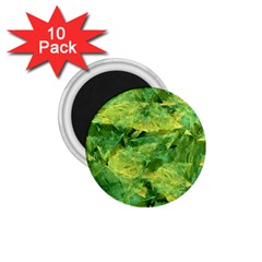 Green Springtime Leafs 1 75  Magnets (10 Pack)  by designworld65