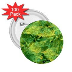 Green Springtime Leafs 2 25  Buttons (100 Pack)  by designworld65