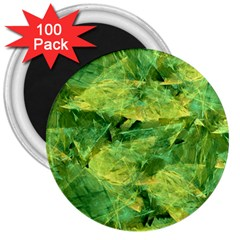 Green Springtime Leafs 3  Magnets (100 Pack) by designworld65