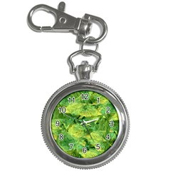 Green Springtime Leafs Key Chain Watches by designworld65