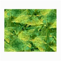 Green Springtime Leafs Small Glasses Cloth by designworld65