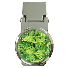 Green Springtime Leafs Money Clip Watches by designworld65