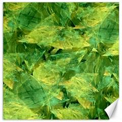 Green Springtime Leafs Canvas 12  X 12   by designworld65