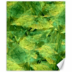 Green Springtime Leafs Canvas 20  X 24   by designworld65