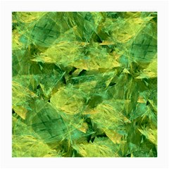 Green Springtime Leafs Medium Glasses Cloth (2 Side) by designworld65