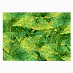 Green Springtime Leafs Large Glasses Cloth by designworld65