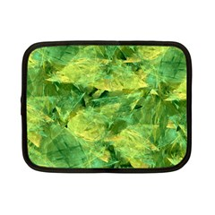 Green Springtime Leafs Netbook Case (small)  by designworld65