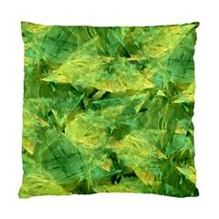 Green Springtime Leafs Standard Cushion Case (one Side) by designworld65