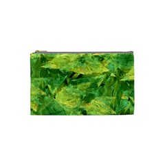 Green Springtime Leafs Cosmetic Bag (small)  by designworld65