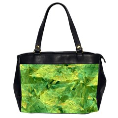 Green Springtime Leafs Office Handbags (2 Sides)  by designworld65