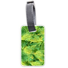 Green Springtime Leafs Luggage Tags (two Sides) by designworld65