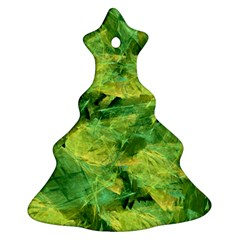 Green Springtime Leafs Ornament (christmas Tree)  by designworld65