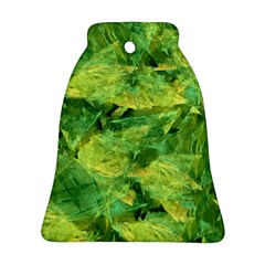Green Springtime Leafs Ornament (bell) by designworld65