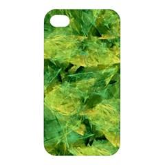 Green Springtime Leafs Apple Iphone 4/4s Hardshell Case by designworld65