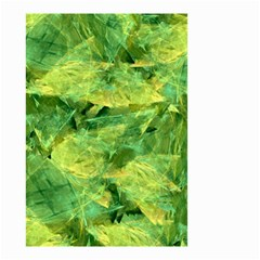 Green Springtime Leafs Small Garden Flag (two Sides) by designworld65