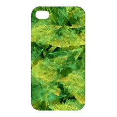 Green Springtime Leafs Apple Iphone 4/4s Premium Hardshell Case by designworld65