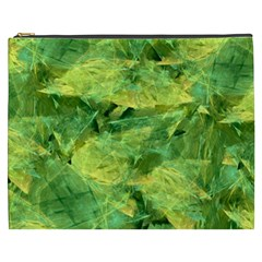 Green Springtime Leafs Cosmetic Bag (xxxl)  by designworld65