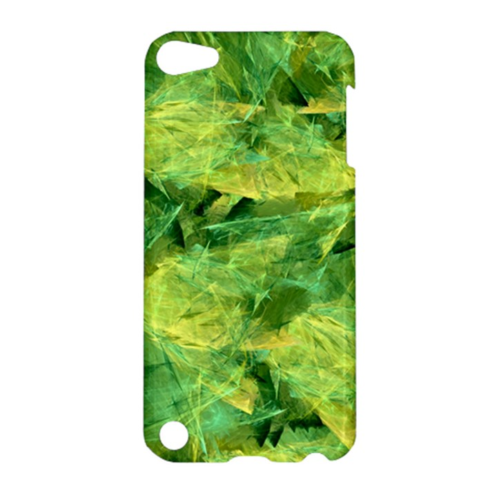 Green Springtime Leafs Apple iPod Touch 5 Hardshell Case