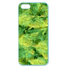 Green Springtime Leafs Apple Seamless Iphone 5 Case (color) by designworld65