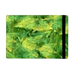 Green Springtime Leafs Apple Ipad Mini Flip Case by designworld65