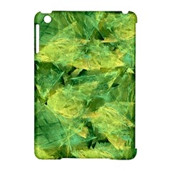 Green Springtime Leafs Apple Ipad Mini Hardshell Case (compatible With Smart Cover) by designworld65