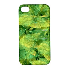 Green Springtime Leafs Apple Iphone 4/4s Hardshell Case With Stand by designworld65