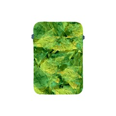 Green Springtime Leafs Apple Ipad Mini Protective Soft Cases by designworld65