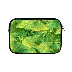 Green Springtime Leafs Apple Ipad Mini Zipper Cases by designworld65