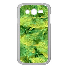 Green Springtime Leafs Samsung Galaxy Grand Duos I9082 Case (white) by designworld65
