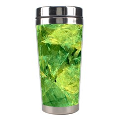 Green Springtime Leafs Stainless Steel Travel Tumblers by designworld65