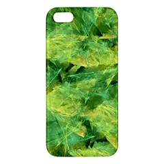 Green Springtime Leafs Iphone 5s/ Se Premium Hardshell Case by designworld65