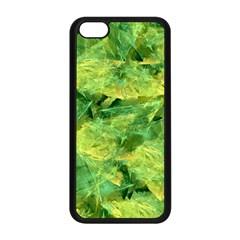Green Springtime Leafs Apple Iphone 5c Seamless Case (black) by designworld65