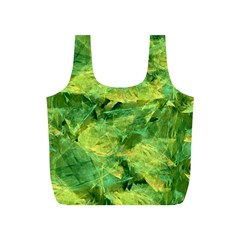 Green Springtime Leafs Full Print Recycle Bags (s)  by designworld65
