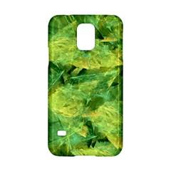 Green Springtime Leafs Samsung Galaxy S5 Hardshell Case  by designworld65