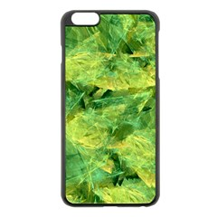 Green Springtime Leafs Apple Iphone 6 Plus/6s Plus Black Enamel Case by designworld65