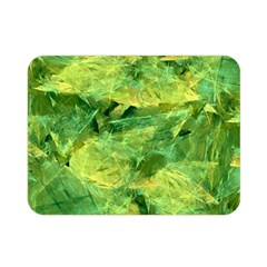 Green Springtime Leafs Double Sided Flano Blanket (mini)  by designworld65