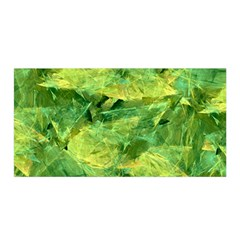 Green Springtime Leafs Satin Wrap by designworld65