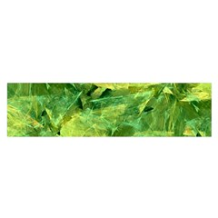 Green Springtime Leafs Satin Scarf (oblong) by designworld65