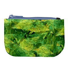 Green Springtime Leafs Large Coin Purse by designworld65