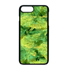 Green Springtime Leafs Apple Iphone 7 Plus Seamless Case (black) by designworld65