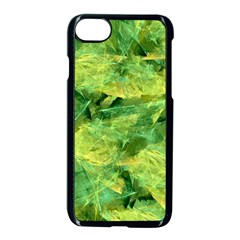 Green Springtime Leafs Apple Iphone 7 Seamless Case (black) by designworld65