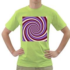 Woven Spiral Green T Shirt
